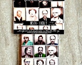 Photo Booth Magnets, vintage photo booth images