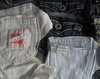 Denim Jean Pockets to Recycle