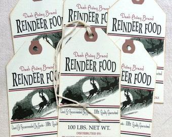 Reindeer Food Christmas Feedsack Gift or Scrapbook Tags  #1229