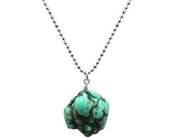 Turquoise Greenish Blue Pendant Necklace