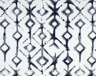"Shibori Curtain Panels, Tribal Rod-Pocket Curtains, Hipster Home Decor, Trendy Indigo Window Curtains, Modern Curtains, One Pair 50""W"