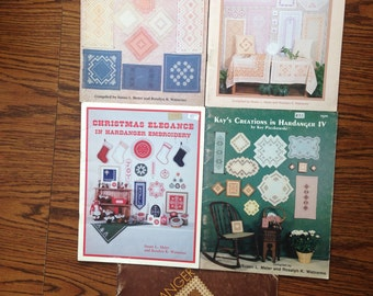 Collection of Hardanger Embroidery Pattern Books, Lot 2