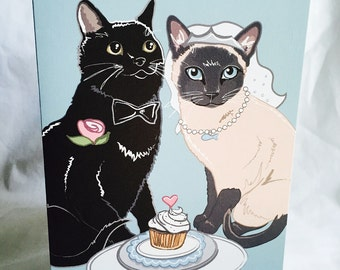 Wedding Cats - Greeting Card