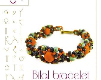 Bracelet tutorial / pattern Bilal bracelet – PDF instruction for personal use only