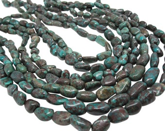 Turquoise Nugget, Turquoise Beads, Green Blue Turquoise, Pebbles, December Birthstone, SKU 4543A