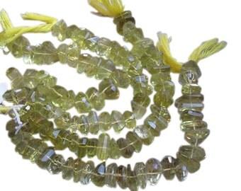 Lemon Topaz Beads, Luxe AAA, Faceted Nuggets, Step Cut Faceted Nuggets, Yellow Topaz Beads, Full Strand, Loveofjewelry, Weddings, SKU 2070A