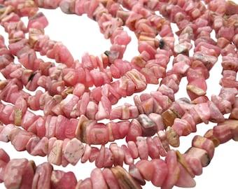 Rhodochrosite Beads, Rhodocrosite Beads, Rhodocrosite Chips, SKU 5107A