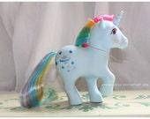 Vintage G1 MLP My Little Pony Rainbow Pony Moonstone