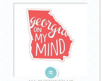 Georgia on my mind digital cut file: svg, dxf, jpg
