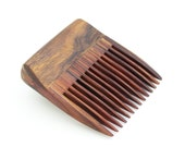 Desert Ironwood and Cocobolo Wood Beard Comb (Handmde in USA) D4  Gift for Him - 5th Anniversary - Gift for Boyfriend - Gift for Husband