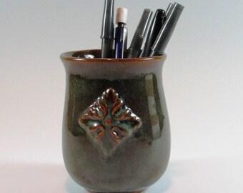 Ceramic Tumbler - Coffee Mug - Pottery Vase - Pencil cup - Handmade Cup - Wheel Thrown cup - Stoneware tumbler - Secret Santa gift