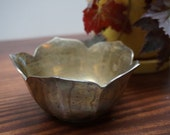 Vintage Brass Lotus Bowl