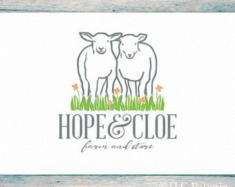 Sheep Logo Design, Custom Logo,  Farm Logo, Yarn Logo, Business Logo, Knitting Logo, Crochet Logo, Premade Custom Logo