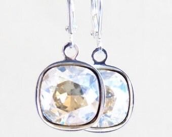 Moonlight Crystal Dangle Earrings - Bridal Jewelry - bridesmaid earrings - Swarovski Crystal earrings