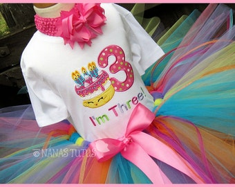 Birthday Cake Shopkin with Number,  Party Outfit,  Personalized, Theme Parties in Size 1yr to 4yrs