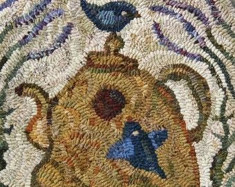Lavender Tea Cozy rug hooking pattern
