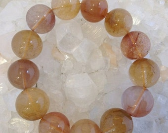 50% Mega Sale Gold Rutile Quartz Bracelet (18mm) #3