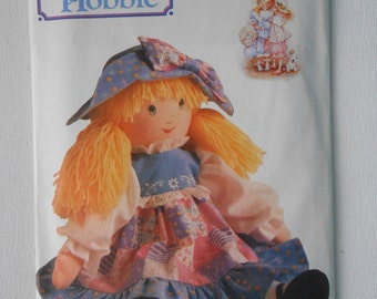 Holly Hobbie Doll with Dress and Hat Sewing Pattern Butterick 5083 One Size UNCUT