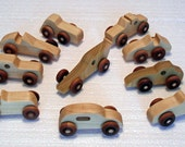 Handmade Wooden Car Party Favor Pack of 10 cars, Birthday Party (Party Favors)