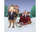 Santa's New Helper, The Trumpus , Full Illustration Print