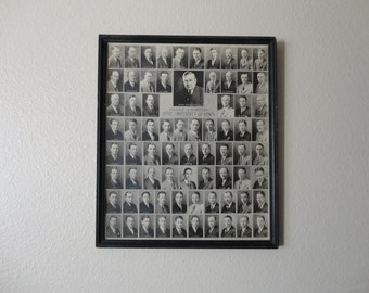 ANTIQUE 1930 state university of IOWA college of dentistry class PHOTOGRAPH