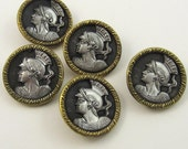 Classic warrior set of antique buttons