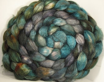 Yak Bombyx Silk 50/50 Roving Combed Top - 5oz - Riverboat 1