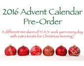 Yarn Advent Calendar, hand dyed mini skeins, christmas gift, day 25 surprises