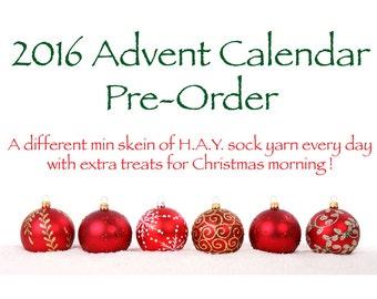 Yarn Advent Calendar, mini skeins