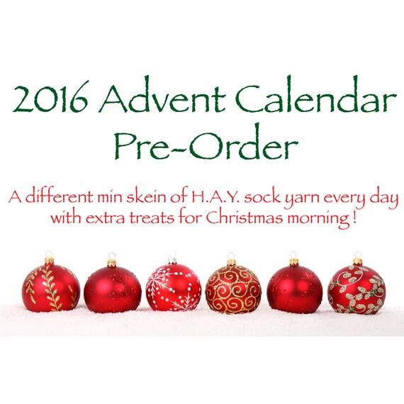 Yarn advent calendar hand dyed mini skeins christmas gift