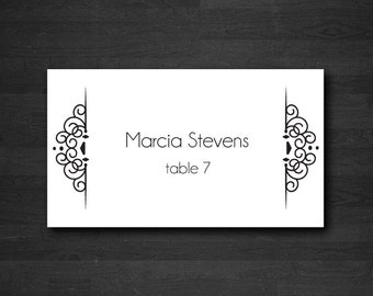 Printed place cards | Etsy