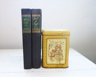 Selected Stories of Guy de Maupassant, Two Volume set, hardcover books, 1912 edition, victorian era, edwardian era, english literature