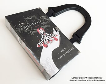 The Night Circus Recycled Book Purse - Midnight Circus Book Cover Bag - Circus Theme Gift - Handbag made from a book - Erin Morgenstern Bag