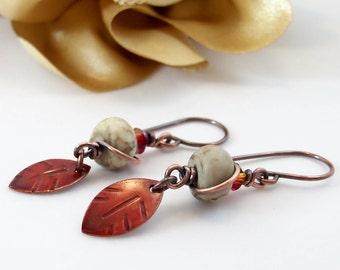 Wire Wrap Jewelry Handmade  Rustic Earrings Boho Jewelry Rustic Jewelry Dangle Handmade Earrings Copper Jewelry Metal Jewelry Swarovski