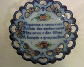 FREE SHIPPING vintage hand painted plate (Vault 26)