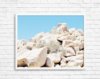 BUY 2 GET 1 FREE California Photography, Joshua Tree Photograph, Desert Photo, Brown Tone, Yucca Tree, Home Decor - Desert Rocks