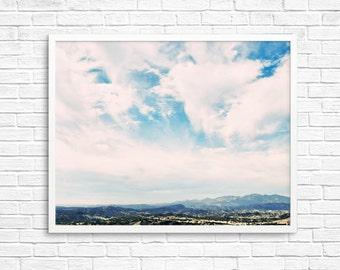 Buy 2 Get 1 Free - California Photo, California Art, California Landscape, Clouds, Nursery, Wall Decor, Mountains, Sky - California Clouds