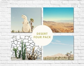 Desert Print Collection, Four Pack Prints, Palm Springs Photography, California Photography, Wall Decor, Boho Prints, Desert Photography