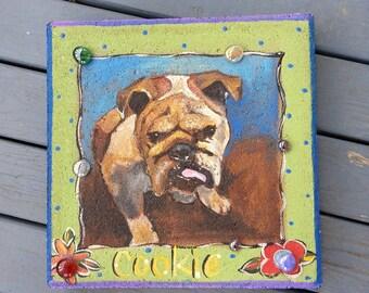Pet Memorial Stone, Pet Portrait