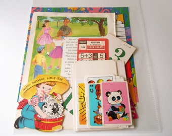 Vintage 25 Piece Ephemera Inspiration Kit Paper Pack for Scrapbooking