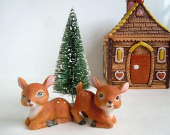 Vintage Ceramic Fawns Deer | Woodland Animals Figurines