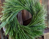 Handmade wild Wheat wreath. Made with native natural Wheat Grasses. Ready to ship.