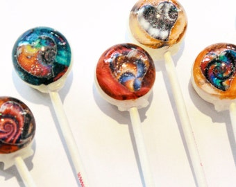 3D fractal heart lollipops by Vintage Confections