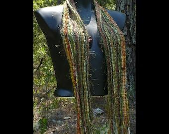Green Handwoven Designer Scarf