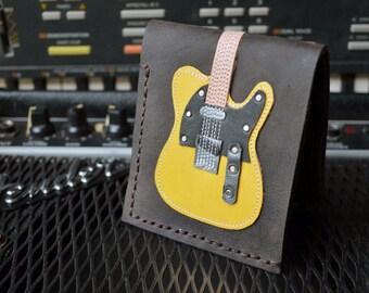 Hand Stitch Men Wallet Fender Telecaster Butterscotch Color