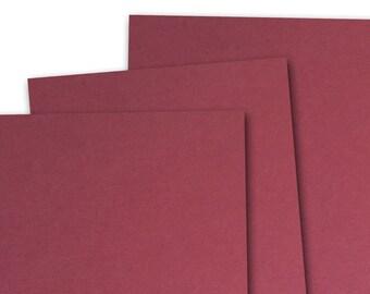 Basis DARK RED 80lb Card Stock 8.5x11 - 25 sheets