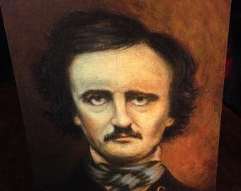 Edgar Allan Poe Blank Card  -  Ponte's Historic Figures Art Cards