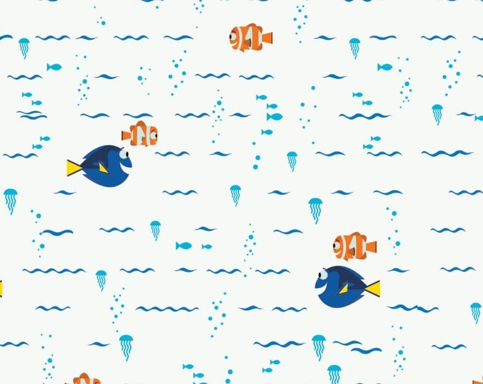 Disney Finding Dory Swimming Children's Cotton Fabric by Camelot