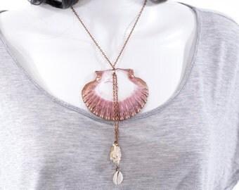 Mermaid Necklace Seashell Mandala Boho Statement Necklace