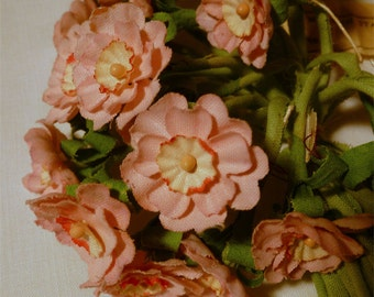 2 Bunches Large Light Pink VINTAGE Millinery Flowers Forget Me Nots Made in ITALY